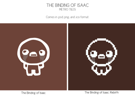 The Binding of Isaac Rebirth - Metro Tiles by aimeesicons