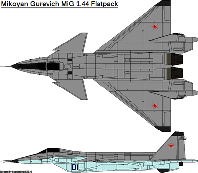 Mikoyan Gurevich MiG 1.44 Flatpack by CopperheadYSF23