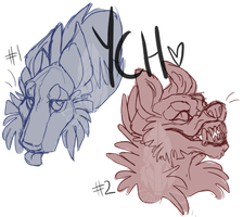 YCH Headshot Slots / CLOSED by loriLUNACY