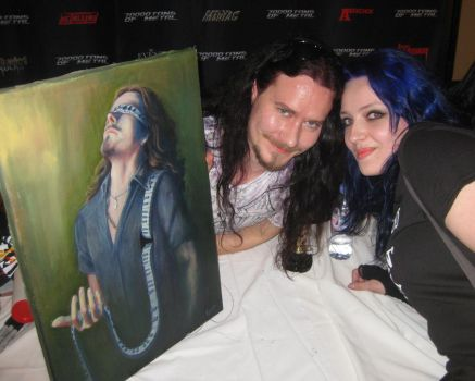 Giving Tuomas the painting by TheArtOfRain