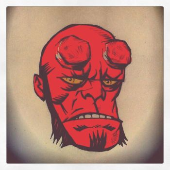 Ah Crap! Hellboy ! by armstrong2112