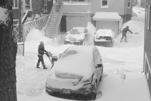 2015 January Blizzard, Snow Blowing and Shovel by Miss-Tbones