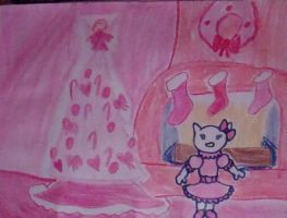 Christmas with Hello Kitty by AprilONeil1984