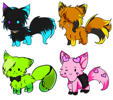 Wolfs And Kittys Adoptables  |5 Points| by KimikoTheCat