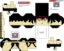 Yura of the hair cubeecraft template by lovefistfury