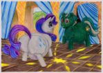 Meeting Rarity and Cid 1 of 2 by SSsilver-c