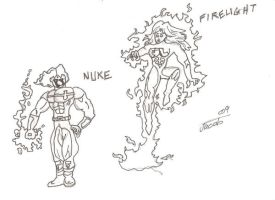 Nuke and Firelight by jakester2008
