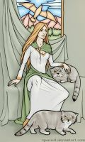 Freyja with manuls by spanielf