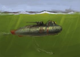 Submarine by JimHatama