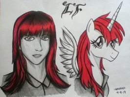 Lauren Faust And Lauren Fausticorn by emichaca