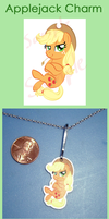 Applejack Charm by VickyViolet