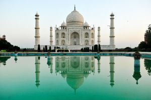 Taj Mahal reflected 1 by wildplaces