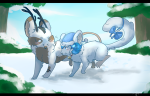 GA:. Snow mice by Alu12