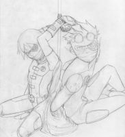 KidFlash and Robin Request - Work in process 2 by AlejaS