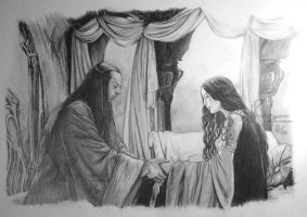 Elrond and Arwen WIP3 by Elven-38-Stone