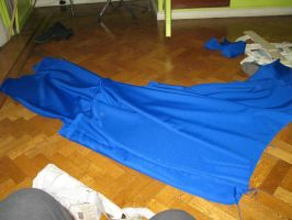 Blue  tunic with long tail in process by Die-Rose