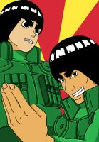 Rock Lee And Might Guy by l3xxybaby