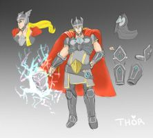 Concept practice 4 Thor by KindCoffee