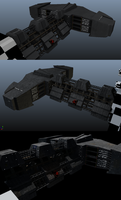 Battlecruiser Texture WIP (Update again) by xiaorobear