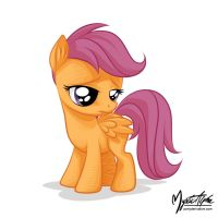 Sad Scootaloo by mysticalpha