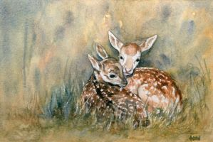 Together - Watercolour by AstridBruning