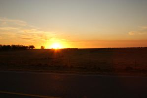 Lovely sunset background image driving dark road by madetobeunique