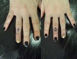 tattoo  finger by Juliano-Pereira