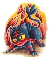 Litten's Flame Charge | Pokemon by J-Ssi