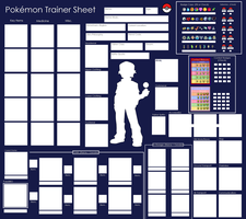 Pokemon Trainer Sheet - Blank by Pandamoniuum