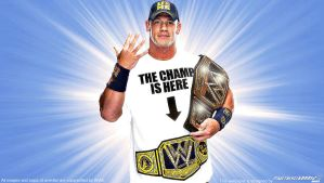John Cena New WWE Champion 2013 Wallpaper Widescre by Timetravel6000v2