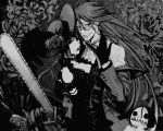 Black Butler-Madame Red x Grell Wallp{ver.Gray} by Madame--Black