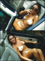 Madison Nude in Her Convertable by Saledin