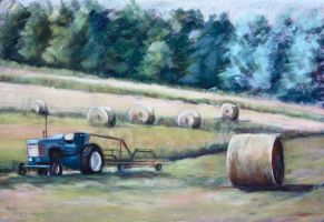 Collecting Hay by Wulff-Arts