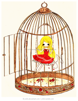Commission: Bird Caged by j-b0x
