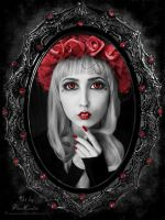 Gothic Ruby Rose by TinaLouiseUk