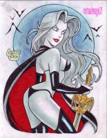 LADY DEATH cartoony by RODEL MARTIN by rodelsm21
