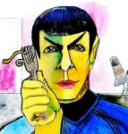 Spock Eating Noodles by Hamnerd