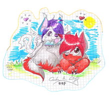 .:: Czacha and Lilly friends ::. by Lillka