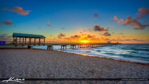 Sunrise-at-the-Pier-in-Fort-Lauderdale-by-the-Sea- by CaptainKimo