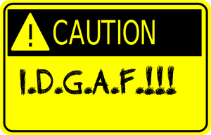 Breathe Carolina IDGAF Sign by zombis-cannibal