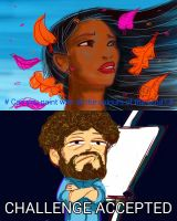 Pocahontas vs Bob Ross by botmaster2005