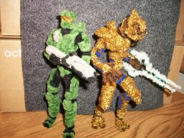 Master Chief and The Arbiter by RHY7HMICW4RRIOR