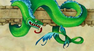Quetzalcoatl and Quetzal by Clerical-Error