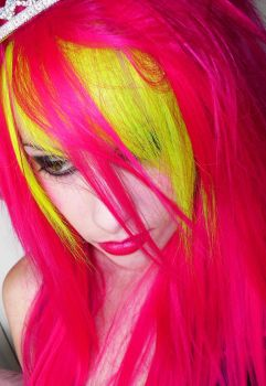 Neon Yellow and Pink by CandyAcidHair