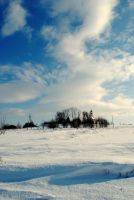 A chapel in winter by pourquoi25