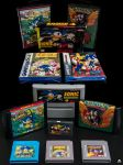Old Sonic the Hedgehog pirate game carts and boxes by EGGMAN-X