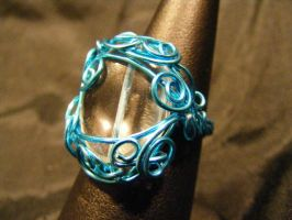 freeform ring quarts in blue sz 11 by BacktoEarthCreations
