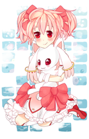 Madoka and Kyubey by Foxesu