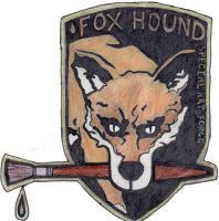 (art) Fox Hound by sovietbadger