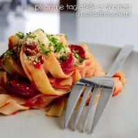 spicy tagliatelle with chorizo by Pokakulka